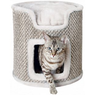 TRIXIE Ria Когтеточка для кошек светло-серый цвет, 37 x 37 см