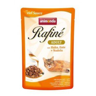 ANIMONDA Rafine adult Консервы для кошек с курицей, уткой и макаронами 100 г