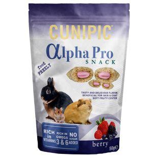 CUNIPIC Alpha Pro Snack näriliste maius marjadega, 50 g