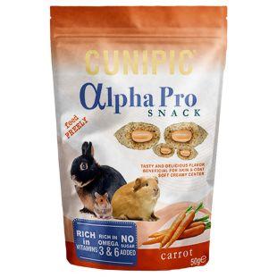 CUNIPIC Alpha Pro Snack näriliste maius porgandiga 50 g