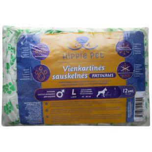 HIPPIE PET одноразовые подгузники для кобелей 60-80 см