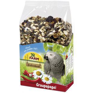 JR FARM Birds Individual African - täisväärtuslik hallpapagoide sööt 950 g