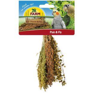 JR FARM Pick & Fly Венчик для птиц с просом, соргом и льном 130 г