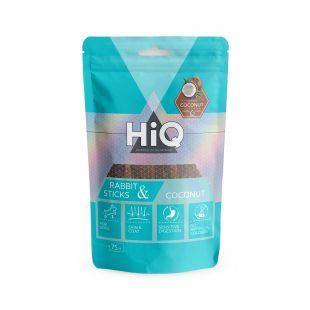 HIQ лакомства для собак палочки из крольчатины с кокосом 75 г