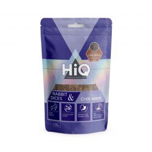 HIQ närimismaius koertele küülikutükid tšiiaseemnetega 75 g