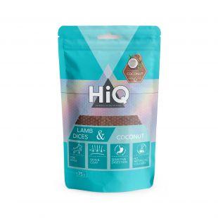 HIQ лакомства для собак ломтики ягнятины с кокосом 75 г