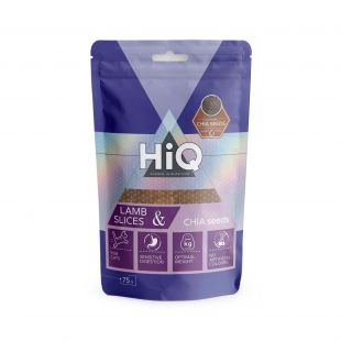 HIQ лакомства для кошек полоски из ягнятины с семенами чиа, 75г