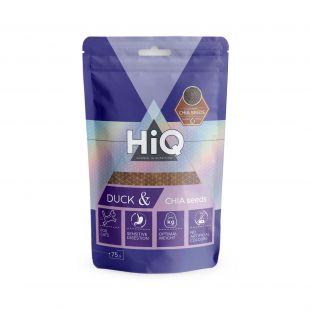 HIQ лакомства для кошек полоски из утки с семенами чиа, 75г