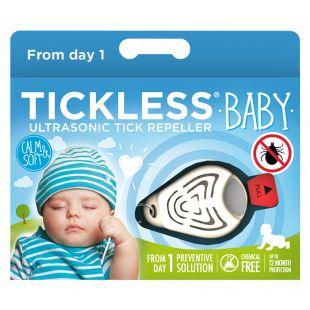 TICKLESS Ultraheliripats puukide ja kirbude tõrjumiseks beebidele TickLess Baby sinine