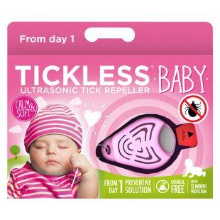 TICKLESS Ultraheliripats puukide ja kirbude tõrjumiseks beebidele TickLess Baby roosa