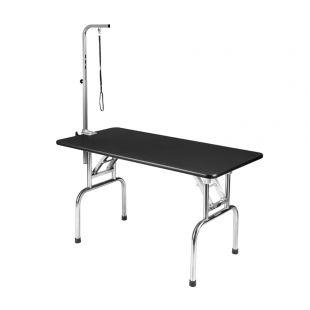 SHERNBAO Kokkupandav laud roostevabast terasest jalgadega, L, 120x60x 68cm