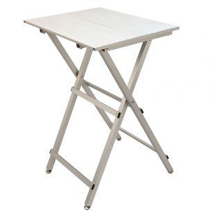 SHERNBAO Kergesti kokkupandav alumiiniumist laud, hõbedane