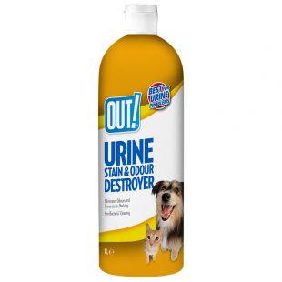 OUT! Dog Urine destroyer, lahus koerte uriini lõhna ja plekkide eemaldamiseks 1000 ml