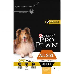 PRO PLAN Dog All Sizes Adult Light/ Sterilised with OPTIWEIGHT, rich in chicken , kuivtoit täiskasvanud koertele kanaga 14 kg