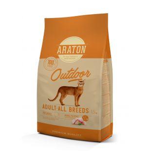 ARATON Сухой корм для кошек Outdoor Adult Poultry 1.5 кг