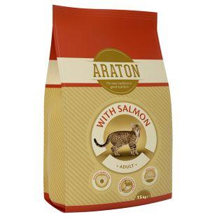 ARATON Сухой корм для кошек Adult Salmon 15 кг