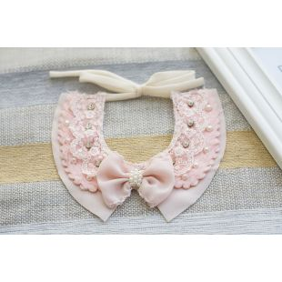 CHEE PET Rosettiga krae Paw Couture roosa