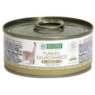NATURE'S PROTECTION Neutered Turkey, Salmon & Rice kassikonservid 100 g