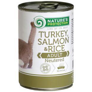 NATURE'S PROTECTION Cat Neutered Turkey, Salmon&Rice kassikonservid 400 g