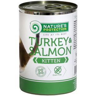 NATURE'S PROTECTION Kitten Turkey & Salmon konservid kassipoegadele 400 g