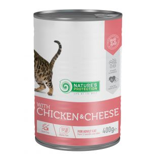 NATURE'S PROTECTION Cat adult with chicken & cheese консервы для кошек 400 г