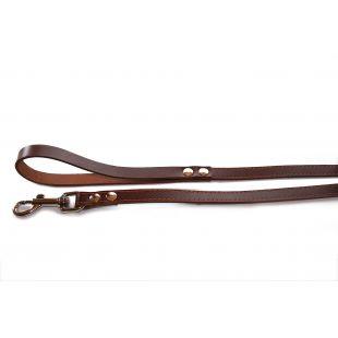 HIPPIE PET Nahast jalutusrihm koertele pruun, 1.6x145 cm
