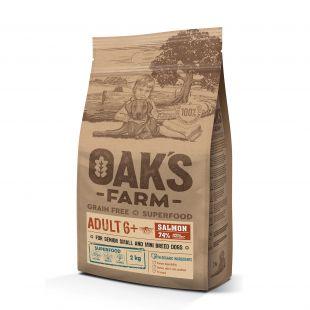 OAK'S FARM Grain Free Salmon Adult 6+ Small and Mini Breed Dogs,   kuivtoit väikeste ja minitõugude täiskasvanud koertele, lõhega 2 kg
