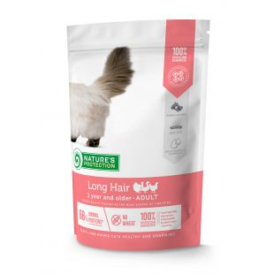NATURE'S PROTECTION Сухой корм для кошек Long hair Adult 1 year and older Poultry 400 г