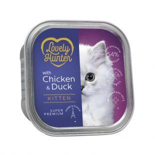 LOVELY HUNTER консервы для молодых котят c курицей и уткой 85  г