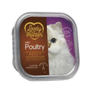 LOVELY HUNTER консервы для стерилизованных кошек с курицей 85 г