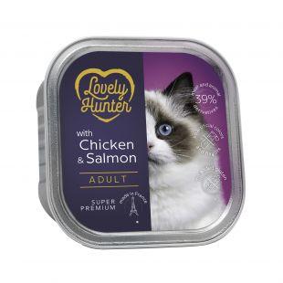 LOVELY HUNTER консервы для кошек с курицей и лососем 85 г