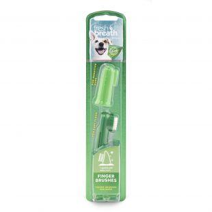 FRESH BREATH Зубная щетка для собак на палец зеленый