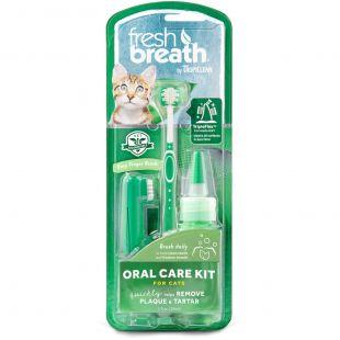 FRESH BREATH комплект для ухода за зубами, для кошек зеленый