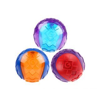GIGWI Koera mõnguasi, pall, piiksuv, punane / lilla, S, 1 tk