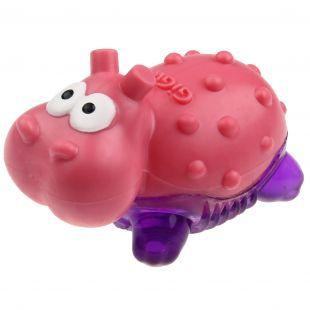 GIGWI Игрушка для собак, Suppa Puppa hippopotamus, роза / пурпур