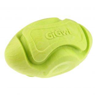 GIGWI Игрушка для собак Мяч для регби зеленый