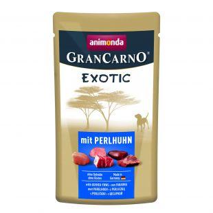 ANIMONDA GranCarno Exotic, консервированный корм для взрослых собак с мясом цесарки 125 г