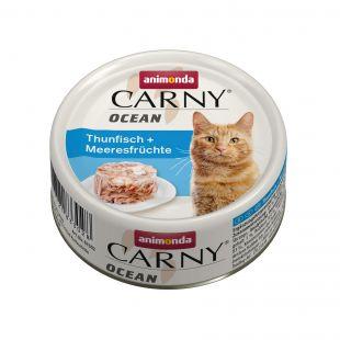 ANIMONDA Carny Ocean, консервы для кошек с тунцом и морепродуктами, 80 г