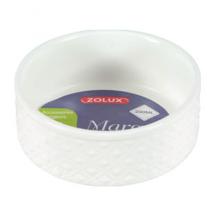 ZOLUX Миска марго для грызунов каменная масса, 200 мл, белая