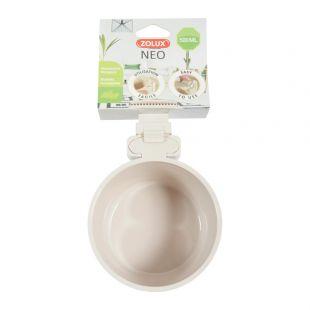 ZOLUX Подвесная миска NEO для домашних животных пластик, 500 мл, бежевый