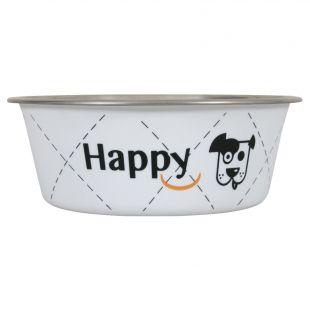 ZOLUX Happy Bowl koerale metall, 400ml, valge