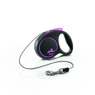 FLEXI Black Design Поводок-шнур XS, розовый
