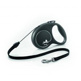 FLEXI Black Design Поводок-шнур S, чøрный