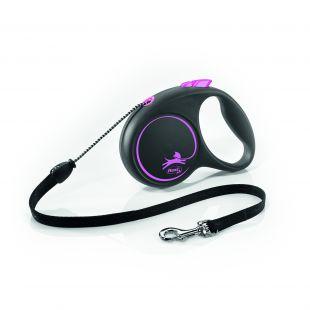 FLEXI Black Design jalutusrihm- nöör S, roosa
