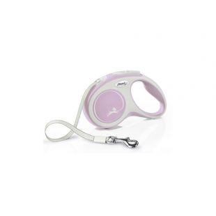 FLEXI New Comfort Ленточный поводок XS, розовый
