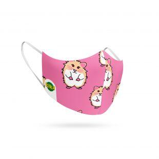 KIKA Korduvkasutatav näomask lastele Hamster, roosa, roosa, 1 tk.
