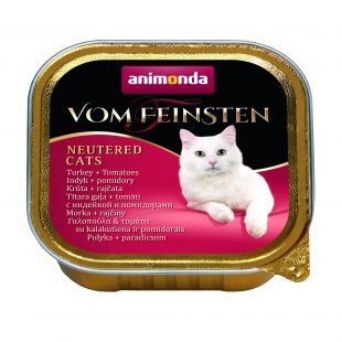 ANIMONDA Vom feinsten, консервы для стерилизованных кошек с индейкой и помидорами, 100 г