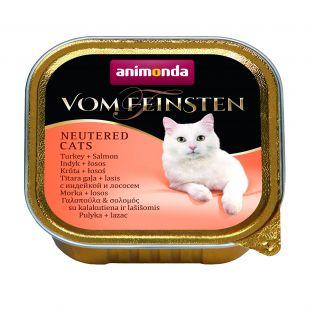 ANIMONDA Vom feinsten, консервы для стерилизованных кошек с индейкой и лососем, 100 г
