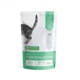 NATURE'S PROTECTION Kitten  konservid kassipoegadele ookeanikala ja kanaga, kott 100 g