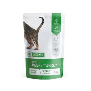 NATURE'S PROTECTION Urinary консервы для кошек с говядиной и индейко пакетик 100 г